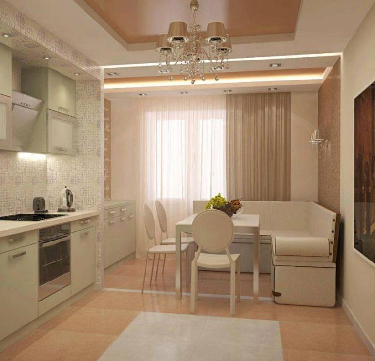 Дизайн кухни 12 кв м с диваном и