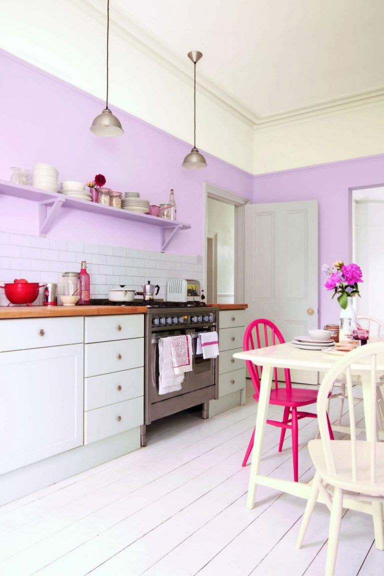 Кухня в лавандовом цвете дизайн фото