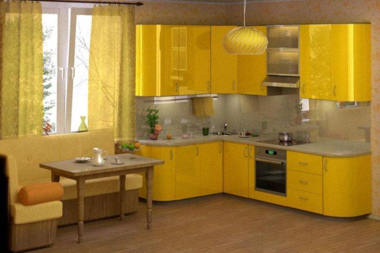 Дизайн кухни в жёлтых тонах