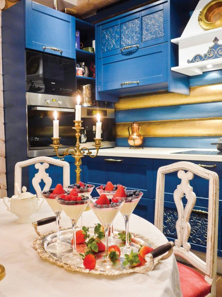 Кухня в русском стиле фото