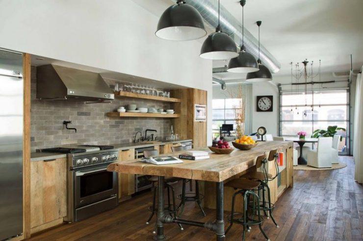 кухня в стиле лофт современный и уютный дизайн 88 фото