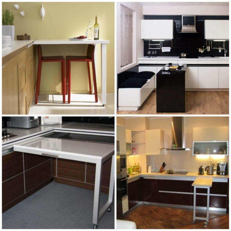 Кухонные столы и стулья для маленькой кухни.