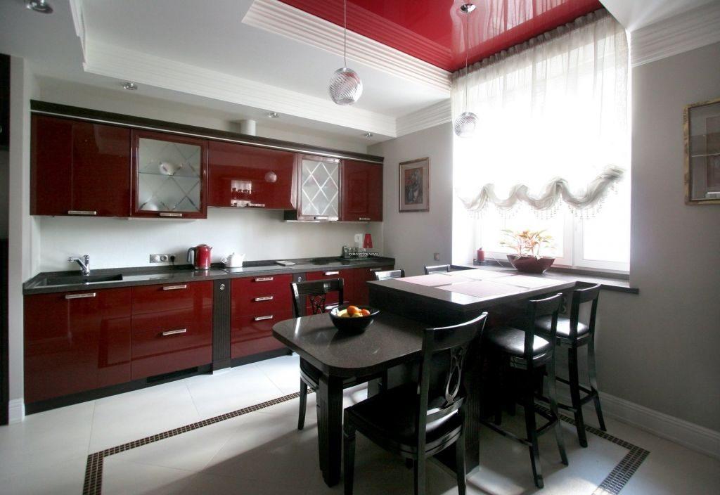 Дизайн в серо-бордовом цвете