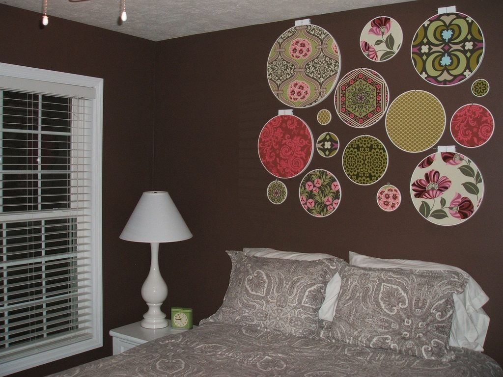 Картины обоями на стене своими руками 733