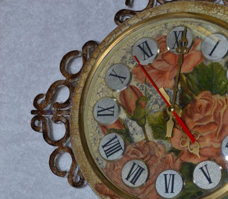 Часы своими руками на кухню мк