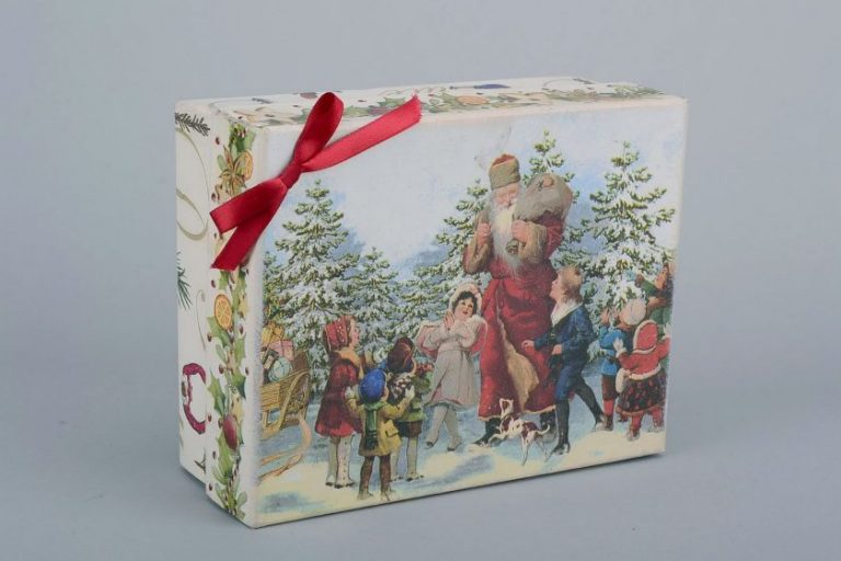 Картонная коробка своими руками декупаж 53