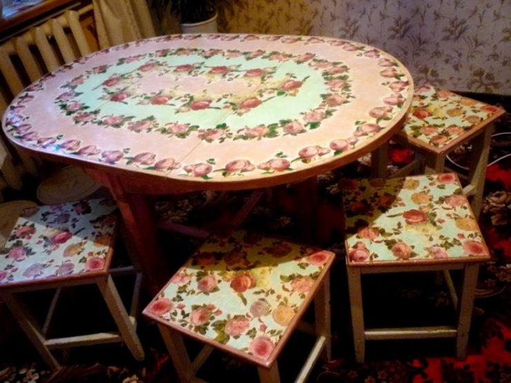 Как обновить кухонный стол своими руками фото