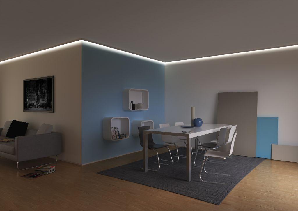 Indirekte beleuchtung wohnzimmer decke