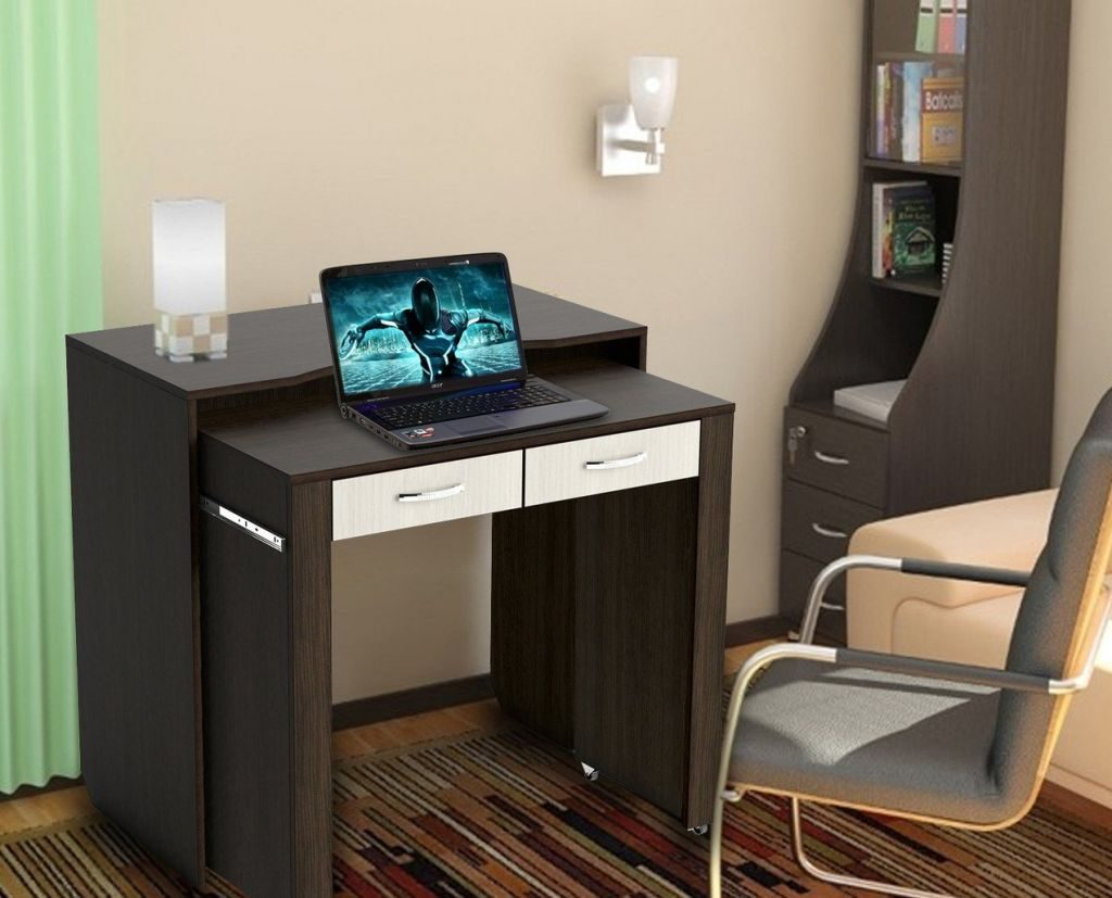 Маленький компьютерный столик - обзор лучших моделей (100 фо.