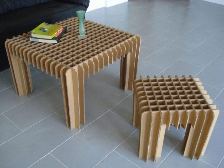 Картонный стол своими руками