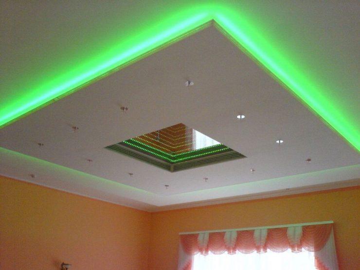 Декоративные потолки с подсветкой своими руками