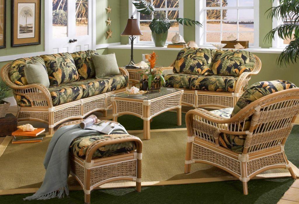 Дизайн ротанговой мебели