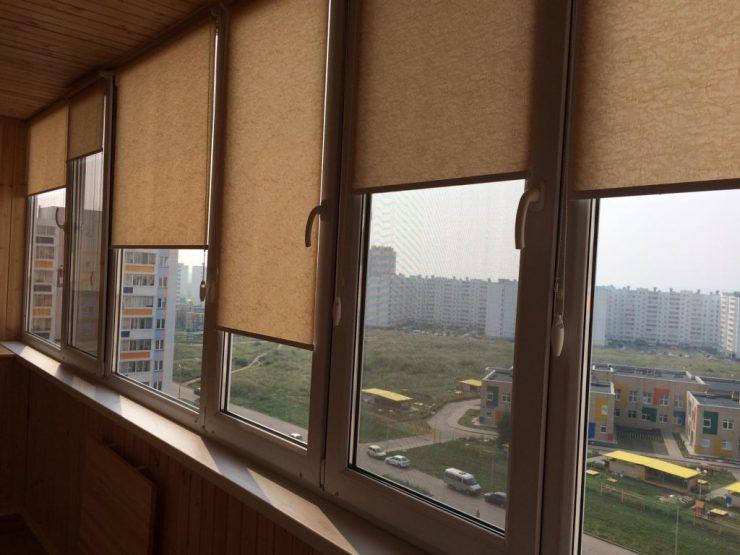 шторы фото на балкон