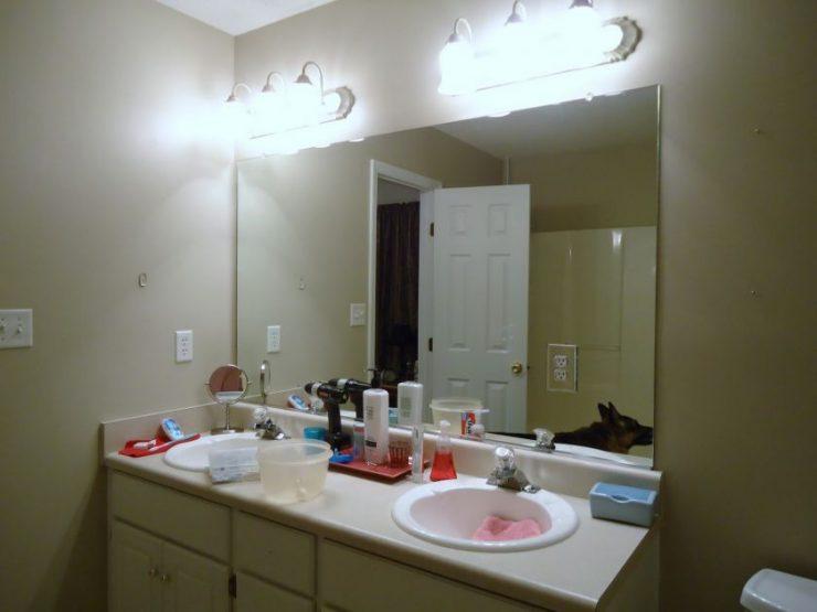 Зеркало в ванную своими руками фото