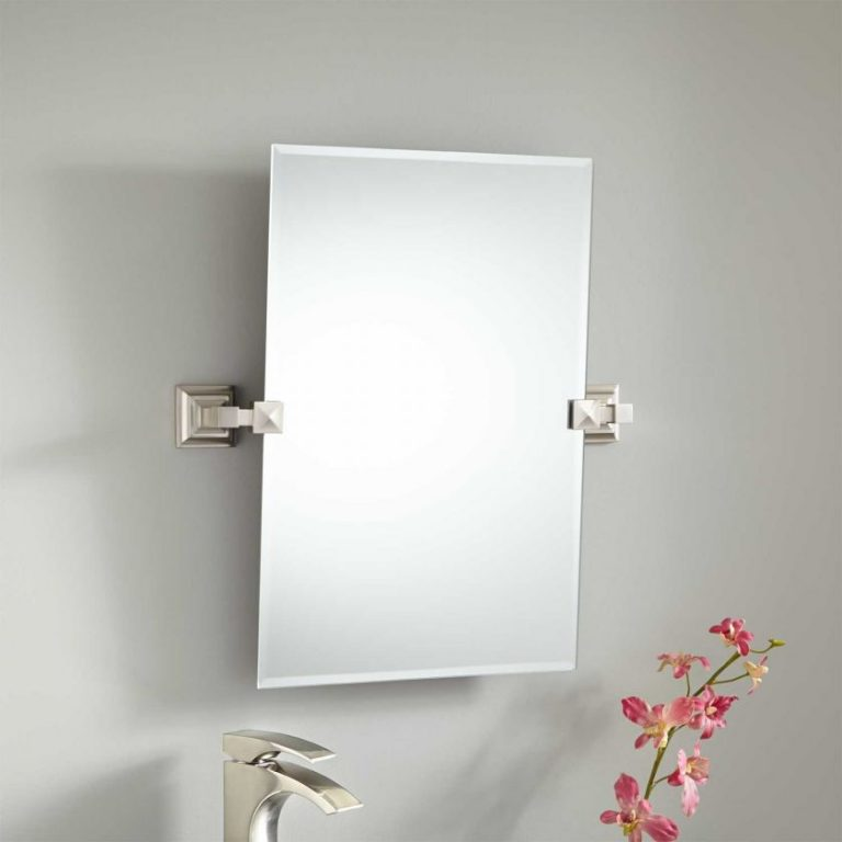 Mirror brushed nickel frame