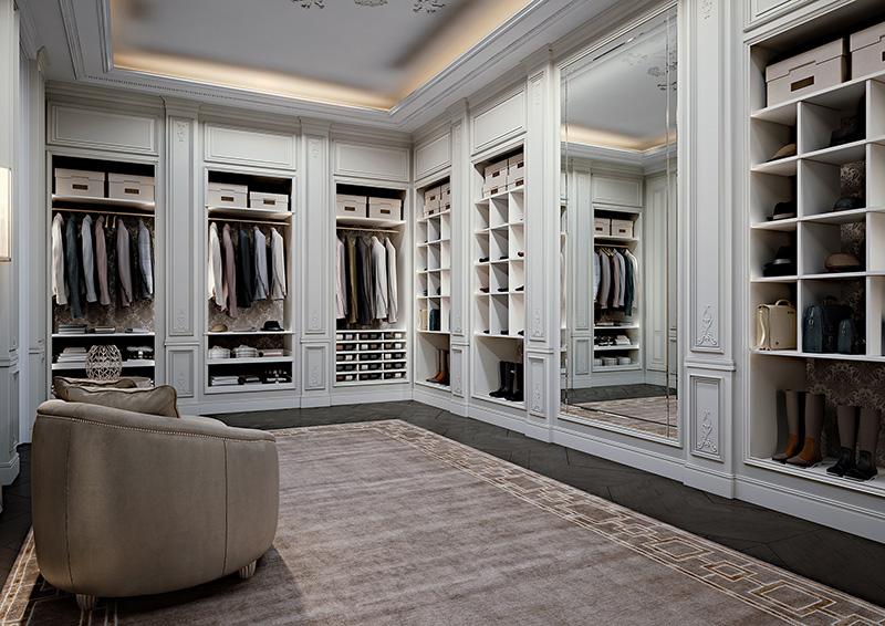 Мебель для гардеробной комнаты.