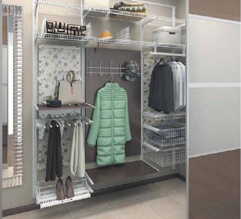 Модульная система в гардеробной.