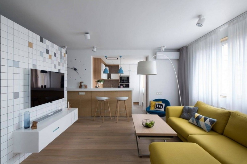 Дизайн совмещенной кухни-гостиной: зонирование и стили (110 фото)