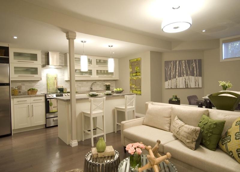 Гостиная совмещенная с кухней, фото дизайна и советы | Все о ... | 573x800