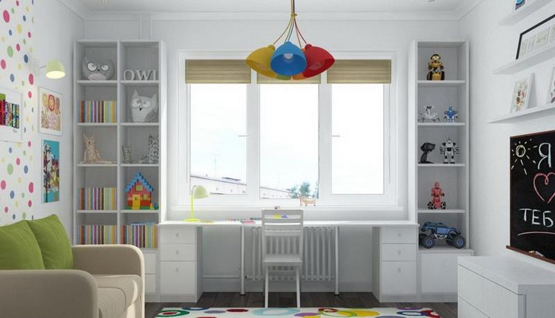 80 фото вариантов оформления рабочей зоны для детей у окна