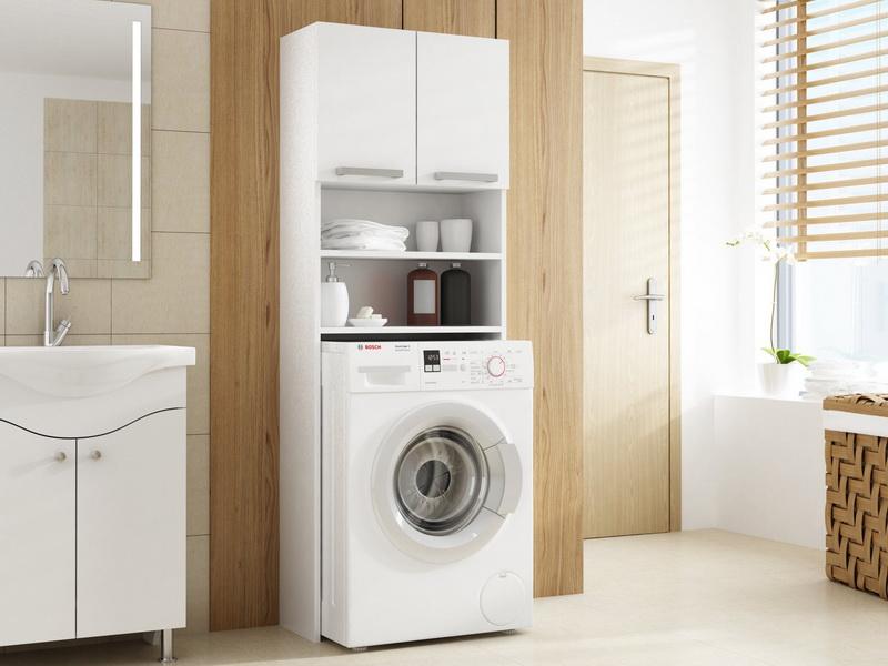 Шкафы для стиральной машины в ванную: виды и советы по выбору