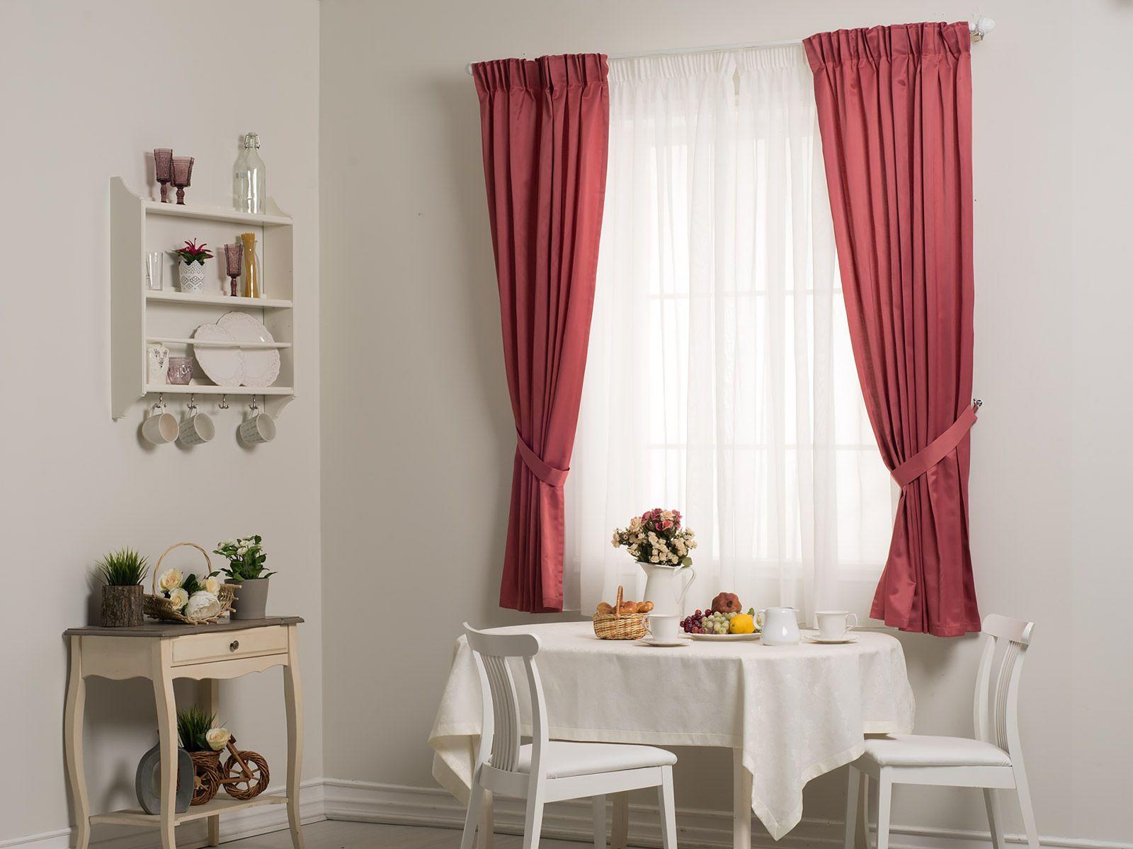 шторы из непрозрачной ткани на кухню
