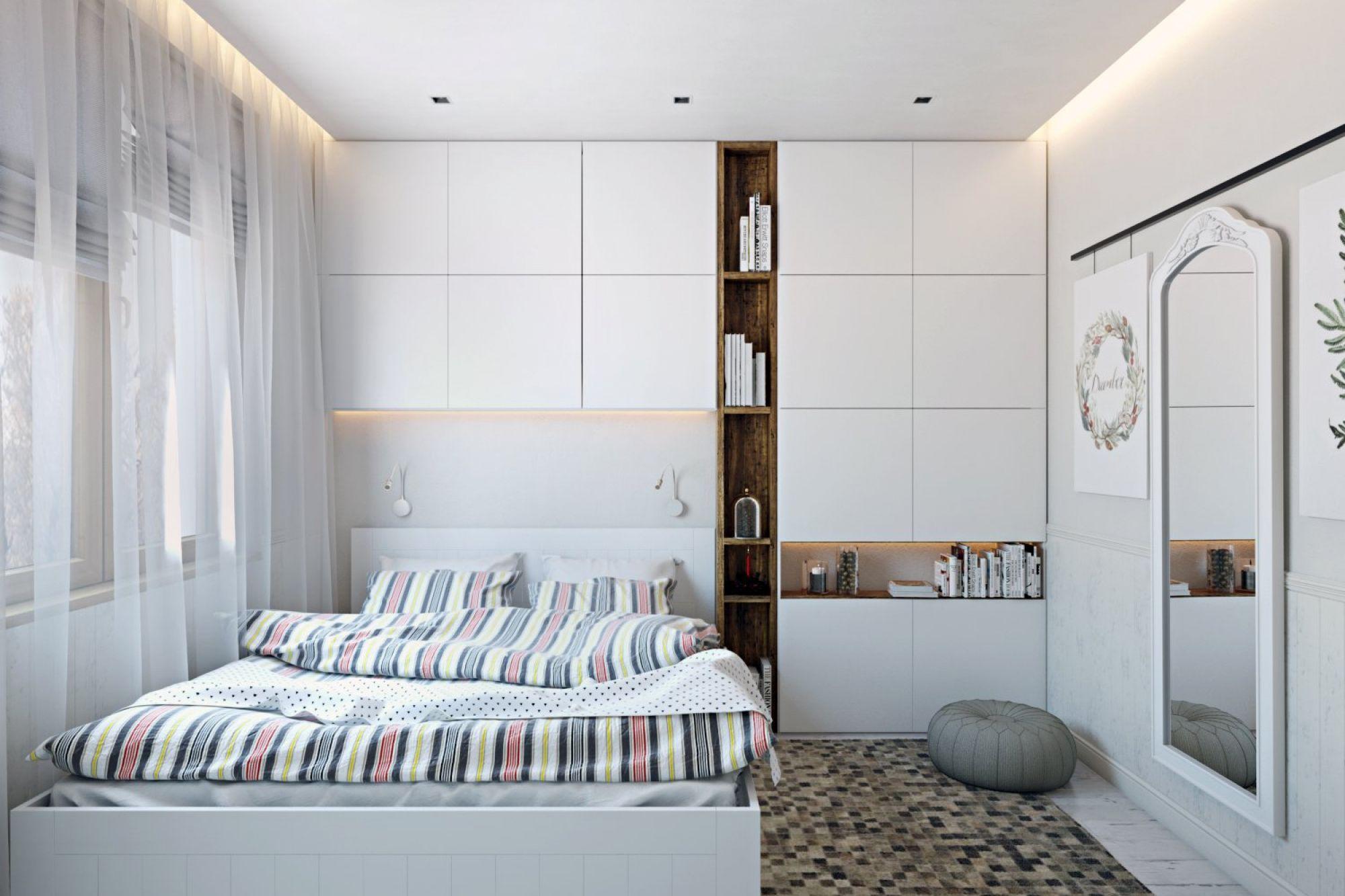 интерьер комнаты подростка-мальчика в стиле минимализм