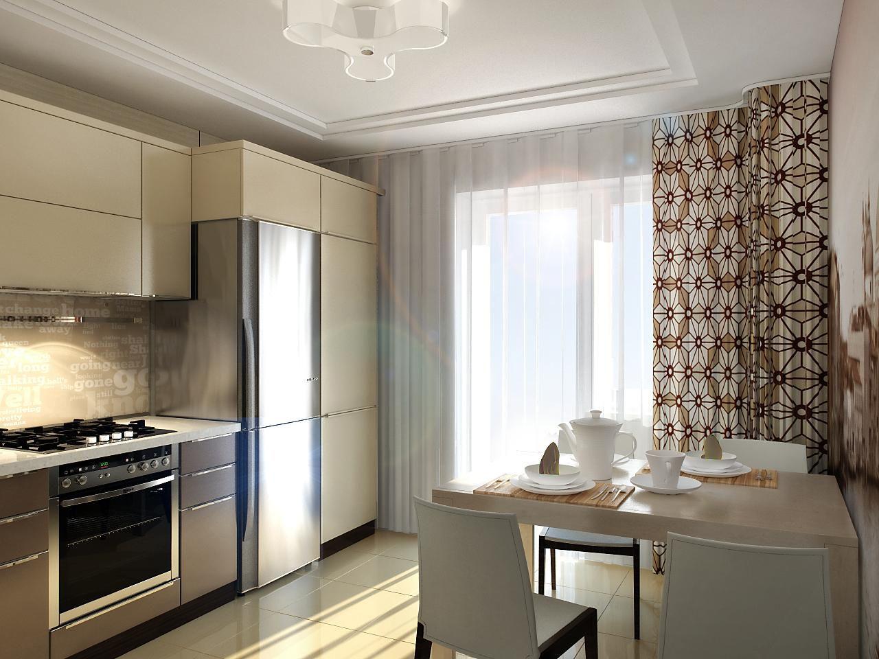 шторы на кухню стиль хай-тек