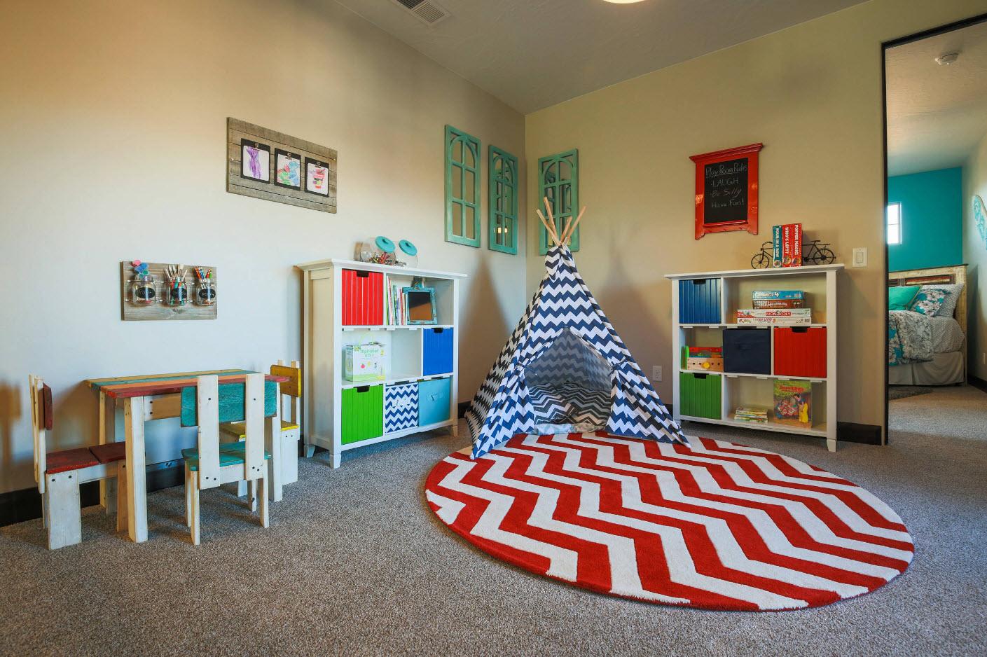 место для отдыха комната для двоих детей