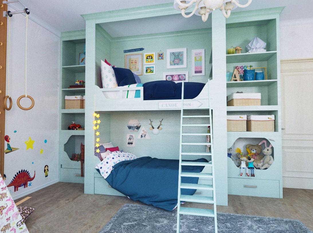 кровати в детскую комнату для двух мальчиков
