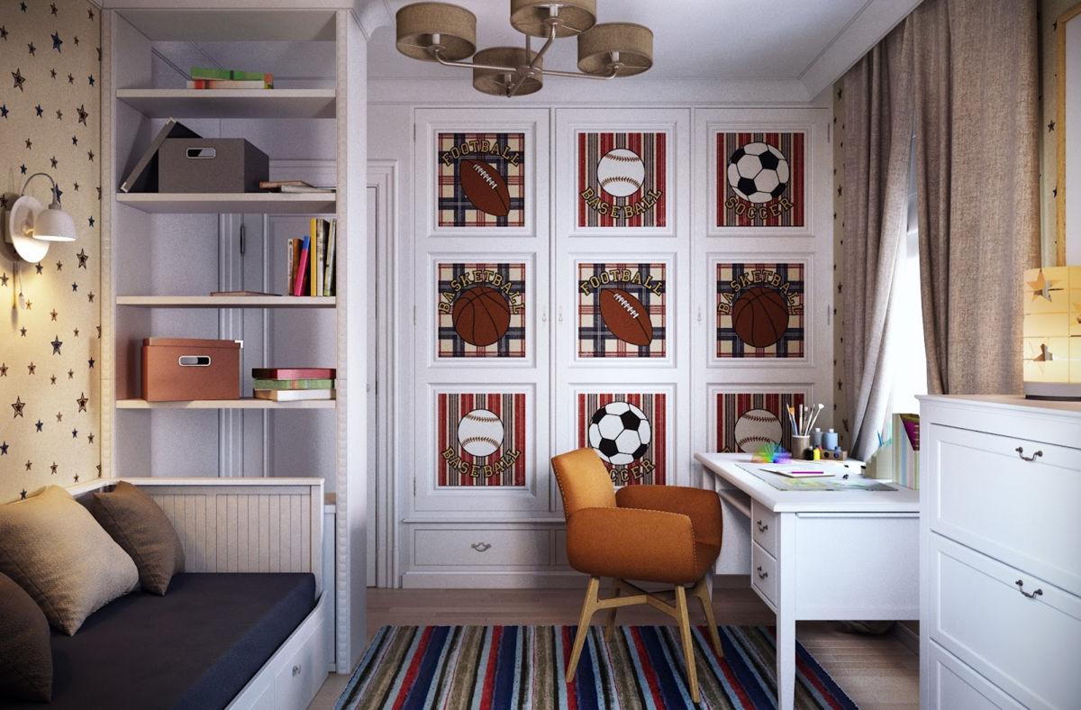 интерьер комнаты подростка-мальчика