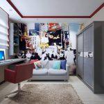 комната подростка в стиле хай-тек