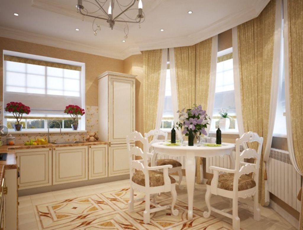 шторы на кухню стиль классицизм