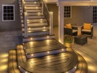 Освещение лестницы в доме — как его сделать? Инструкция + 100 фото примеров!