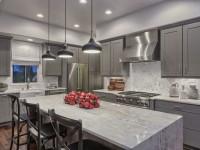 Идеи дизайна кухни в серых тонах (100 фото)