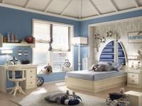 Идеи оформления детской комнаты в морском стиле (50 фото)