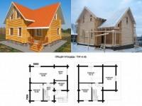 Как рассчитать дом 9 на 9 из разных материалов: брус, кирпич, газобетон