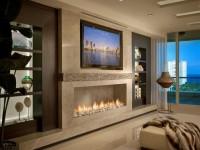 Электрокамин в интерьере гостиной (100+ фото): лучшие модели в комнате с телевизором