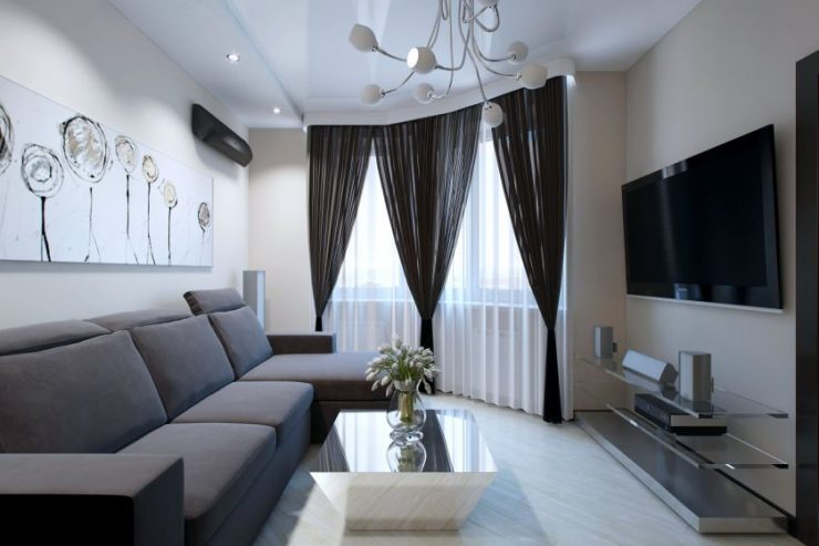 дизайн гостиной 17 кв м 6