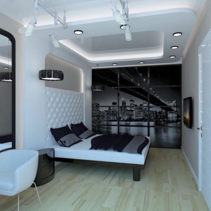 дизайн спальни в стиле хай тек фото 2