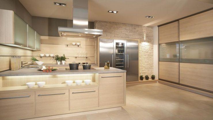 кухня в бежевом цвете дизайн фото 2