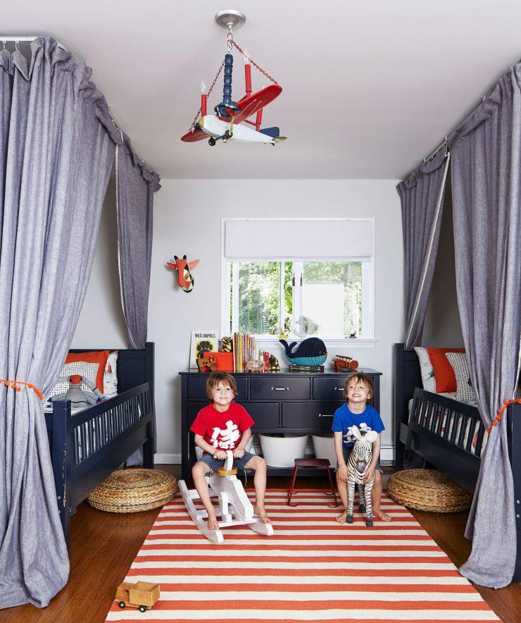 детская комната для мальчика дизайн фото 12 квм 1