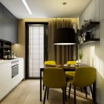 шторы на одну сторону на кухню