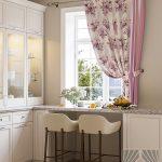 шторы на кухню с ламбрекенами