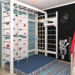 детская комната для мальчиков в спортивном стиле
