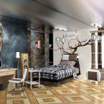 комната подростка в стиле лофт