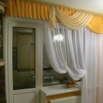 штора на одну сторону на кухню